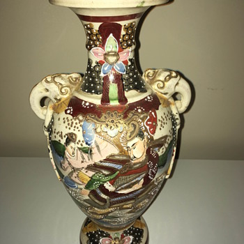 Grandma's Japanese Scened Vase