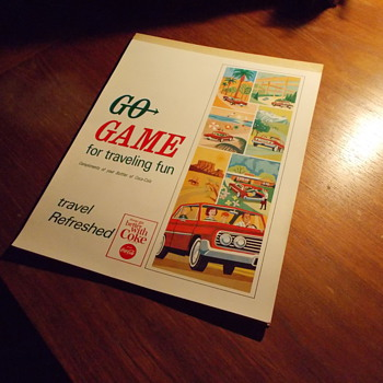 1960s Coca-Cola Go Game For Traveling Fun Notebook