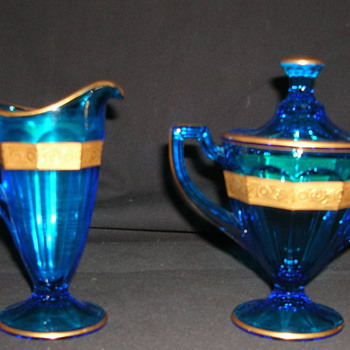 Creamer and Sugar Jar - Glassware