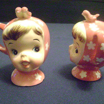 1950's Miss Cutie Pie S & P Shaker Set