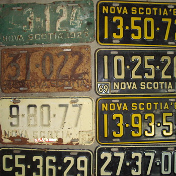 liences plates  - Signs