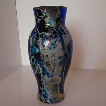 Cobalt pandora glass vase - Art Glass