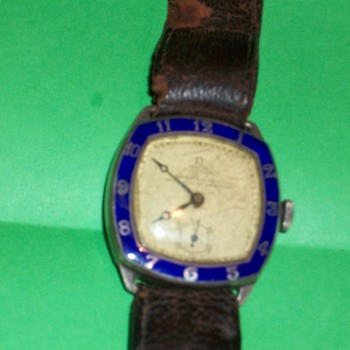 Omega Swiss made gents Watch 1929 Silver Hallmarked - Wristwatches