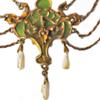 Hand carved model for Art Nouveau Janvier Quercia jewel.