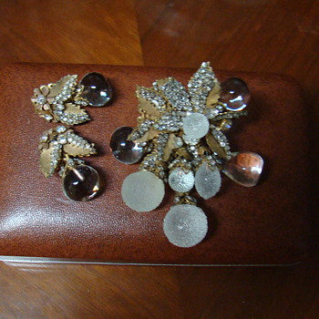 This is my favorite Miriam Haskell Brooch and Matchings E/R Set-Houston TX 1984