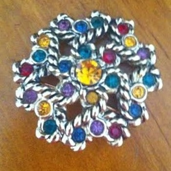 Costume brooches and Opal ring