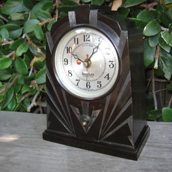 Art Deco Bakelite Skyscraper Havlin Clock  - Clocks