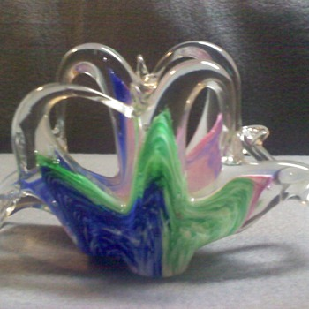 GLASS NAPKIN HOLDER - Art Glass