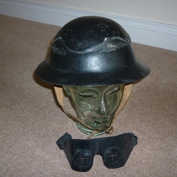 Helmet and Eye Protector - Military and Wartime
