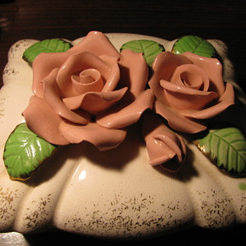 Occupied Japan Rose Top Dish - Pottery