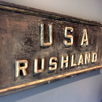 USA Post Office Sign, Rushland PA (19th Century) - Signs