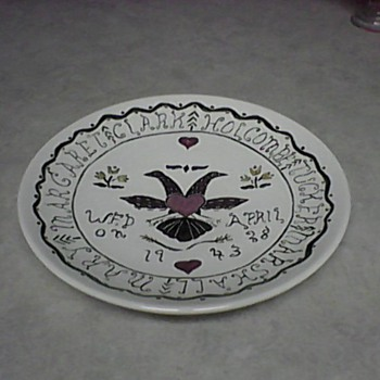 1943 WEDDING PLATE