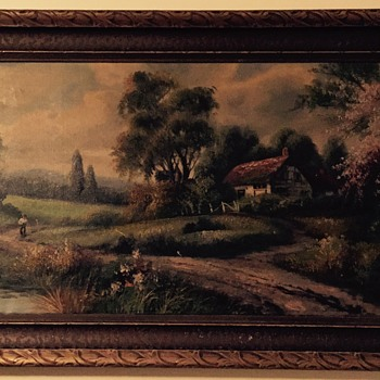 Old oil painting  - Arts and Crafts