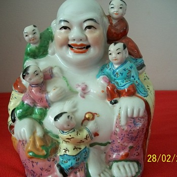 Asian Large figurine with Children - Asian