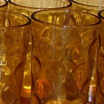 El Dorado Amber Depression Pitcher Set - Glassware