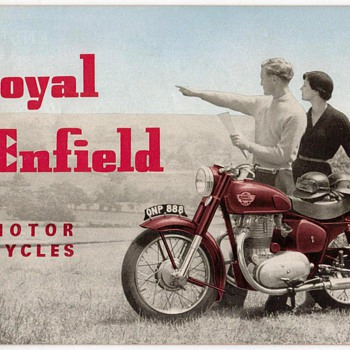 "1956 - ""Royal Enfield"" Motorcycles Brochure"