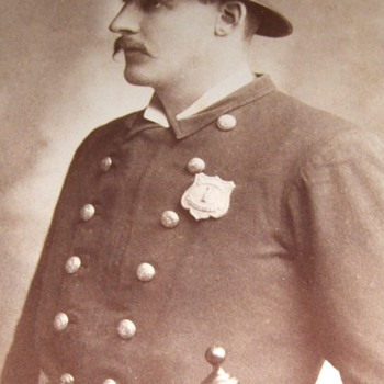 Another Cabinet card occupational of Policeman