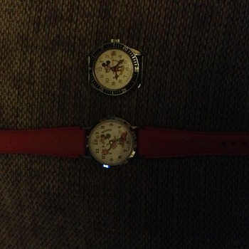 Vintage Mickey & Minnie Mouse Watehes - Wristwatches