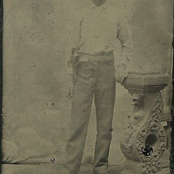 Tintype of a Cross-Draw Left-Handed Cowboy