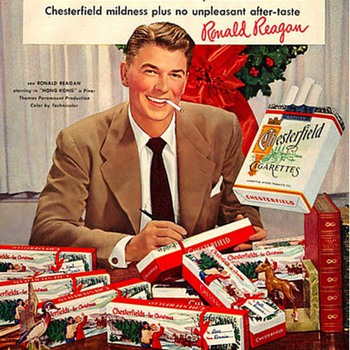 My Favorite Christmas Ad of ALL TIME: Ronald Reagan and Chesterfield Cigarettes. Merry Christmas Everyone! - Advertising