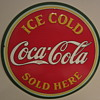 1934 Coca Cola disc sign