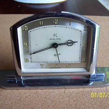 Deco Chromium alarm clock. Made for Birks Ellis (Canada's Tiffany)