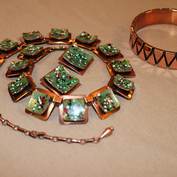 Renoir Copper Semi Parure - Costume Jewelry
