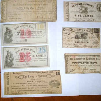 1862-63 Confederate Notes
