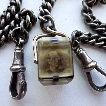 Photo Cube Pocket Watch Fob