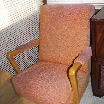 Blonde platform rocking chair - Mid Century Modern