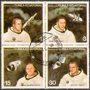 "1978 - Eq. Guinea - ""U.S. Astronauts"" Postage Stamps - Stamps"