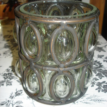GLASS METAL CANDLE HOLDER