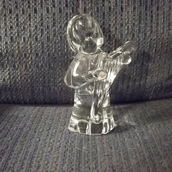 FM Ronneby signed crystal angel