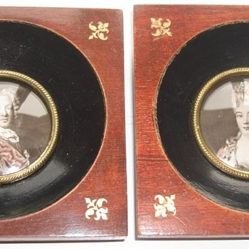 French miniature frames - Photographs