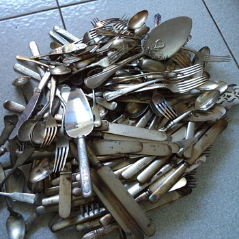 Lots of Silver Plate Flatware - Kitchen