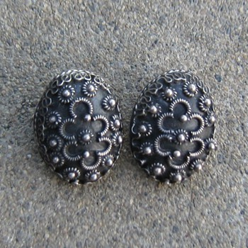 Sterling clip earrings from Mexico