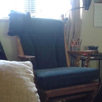 Antique glider rocker chair