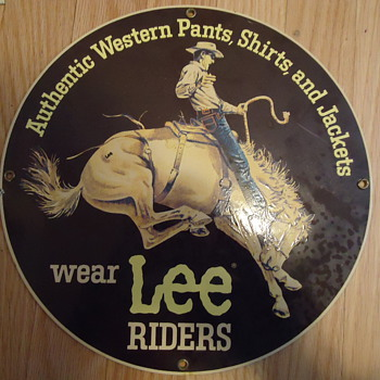 Vintage one sided Lee Rider Jeans  - Signs