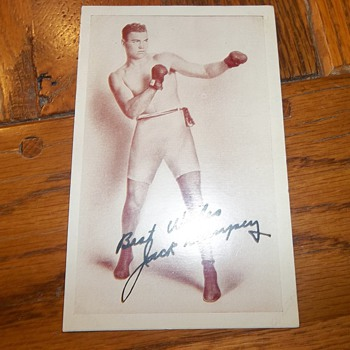 Boxing postcards