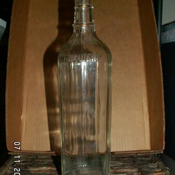 Antique 14 Panel One Quart Hazel Atlas Bottle  ~1920's