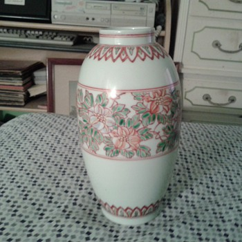 Occupied Japan Vase Hand Painted Unkown markings Hallmark