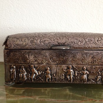 Antique Embossed Silver (Dutch?) Box - Tobacciana