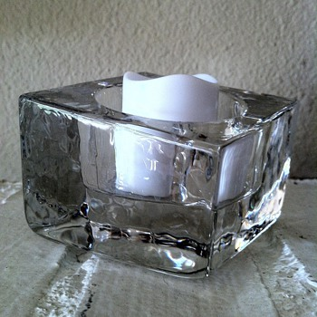 Slanted Ice Cube Tea Candle Votive