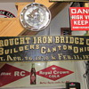 Wrought Iron Bridge Co. Sign Dated 1870 and 1873 and Great Northern Railway Sign