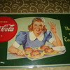 1940&#039;s coke cardboard sign