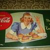 1940's coke cardboard sign