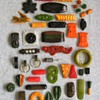 What the heck: bakelite pin and clip bonanza