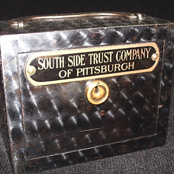 "Promotional Advertizing Steel Bank""South Side Trust Company of Pittsburgh""Circa-1900 - Coin Operated"