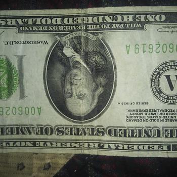 1928.,100 dollar bill