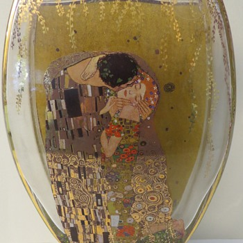 Goebel Glass Vase - Gustav Klimt
